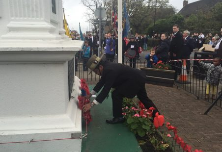 Remembrance Ceremony in Tilbury, 2015