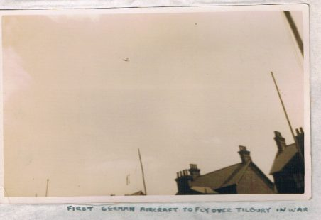 First German aircraft to fly over Tilbury