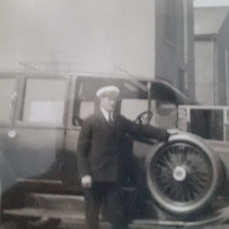 Harold also ran a taxi service for the sailors arriving at the docks and wanting to go into London.   Jill Crawley