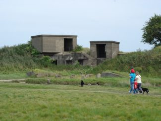 These buildings were added to the fort in the second world war