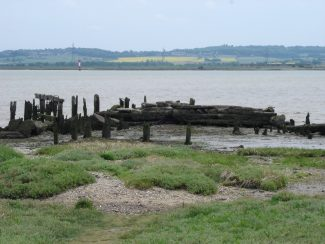 On past the old moorings where supplies were bought from ships to the fort by rail