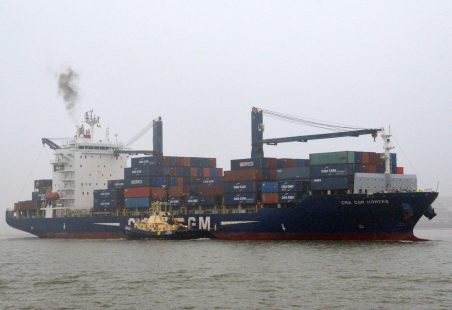 CMA CGM HOMERE on a misty day