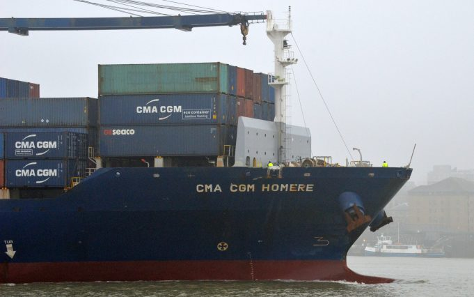 CMA CGM HOMERE on a misty day | Jack Willis