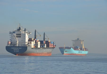 MAERSK LOTA on the river