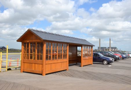 The new waiting room on Tilbury landing stage