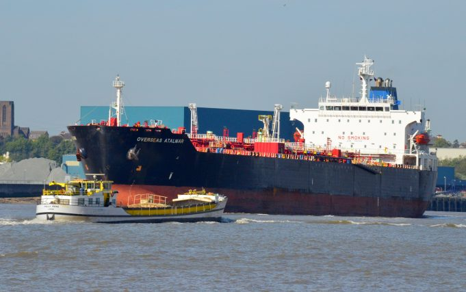 OVERSEAS ATALMAR leaving the Thames | Jack Willis
