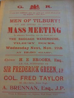 Recruiting in Tilbury | From the Friends of Thurrock Museum WWI Facebook page