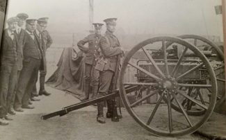 A detachment of Territorials guarding Tilbury Docks 1915. | From the Facebook page