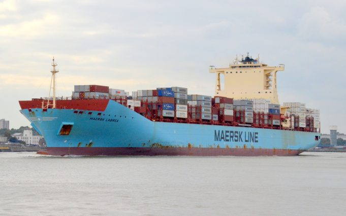 MAERSK LABREA leaving the river | Jack Willis