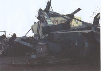Crane crash mid 1980's