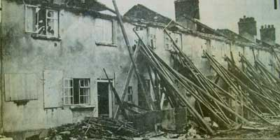 1980 - Poets Corner Estate in Tilbury being demolished