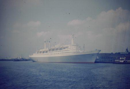 The Rotterdam at Tilbury Riverside 1960