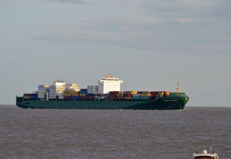 CHOAPA TRADER on her way to Tilbury