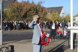 Hindu Kumar Tamang,  ex-Gurkha and Falkland Veteran at Tilbury's Rememberance Day | Hindu Kumar Tamang