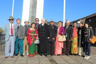 Jackie Doyle-Price, MP with Hindu Kumar Tamang | Hindu Kumar Tamang