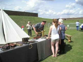Army weapons display   John Smith