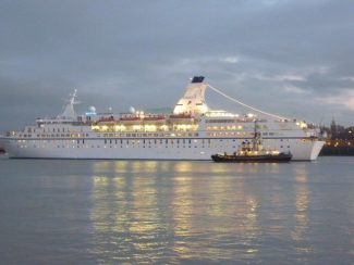 Astor leaving Tilbury