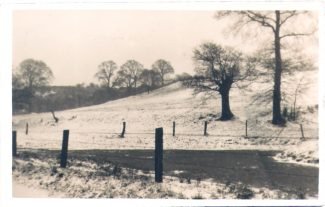 Biggin Lane, winter view 1930s. | from John Smith