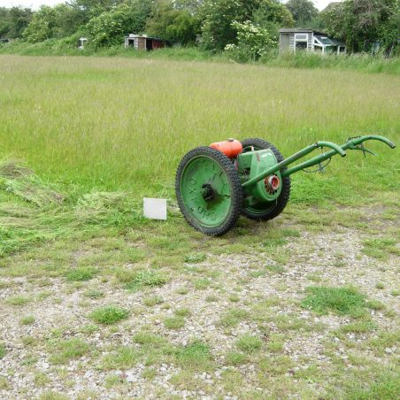 An Allan Scyth was used to cut the grass when it got long