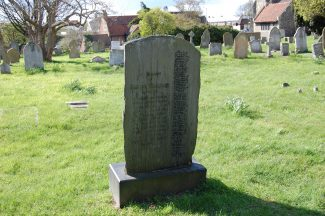 The Japanese memorial stone in Chadwell churchyard