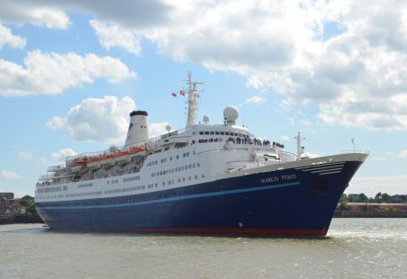 MARCO POLO leaving Tilbury