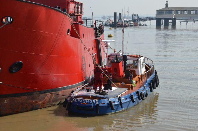 NIPASHORE alongside light vessel | Jack Willis