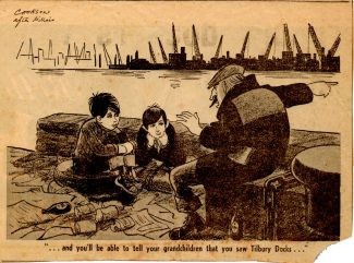 Cartoon of Tilbury Docks