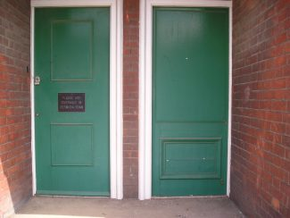 Doors at the front