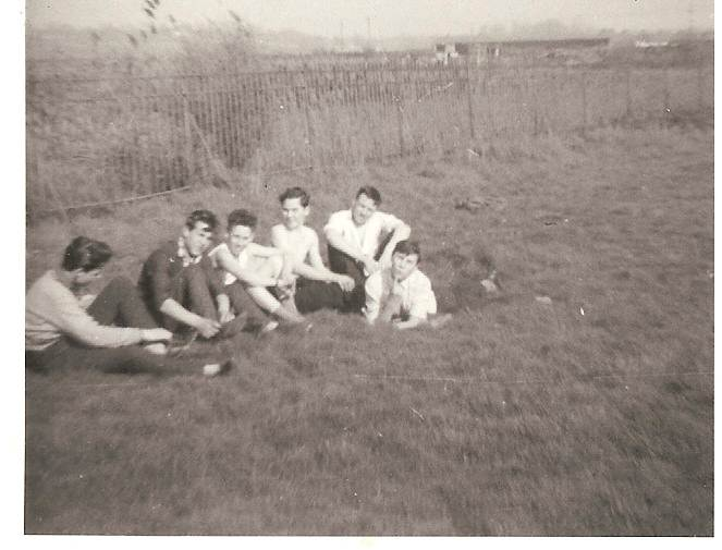 Picture taken on school sports field 1960