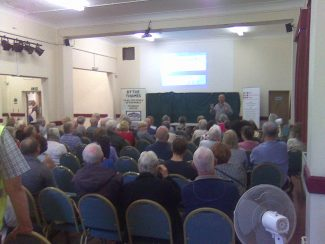 A packed audience listened to a talk by Jonathan Catton | John Matthews