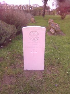 First World War CWG headstone erected in March 2012 | John Matthews