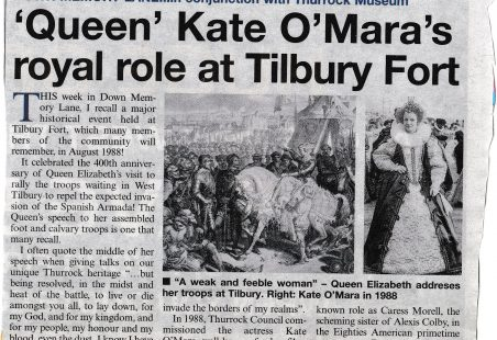 Kate O'Mara in Tilbury