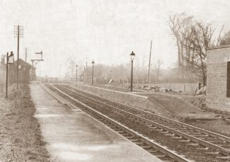 The platform at Low Street, 1956