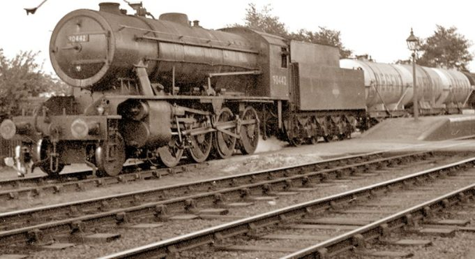 A train at Low Street in the 1950s