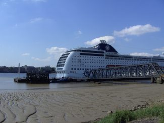 MSC LIRICA on Tilbury Landing stage