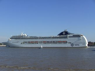 MSC LIRICA Leaving Tilbury