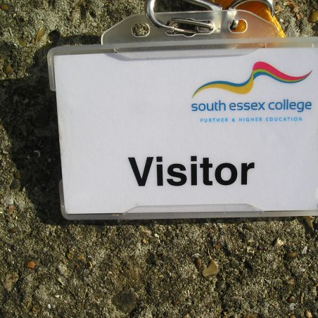 My visitors badge