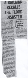 A newspaper report