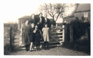 Posing for a photo at Marsh House, 1930s | from John Smith