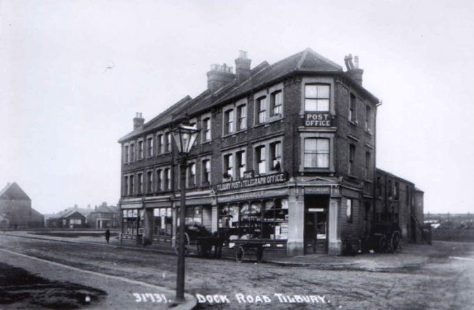 An early post card of the Post Office