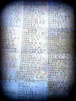 W A Cooper's name on Thiepval Memorial. | Bill Humphries