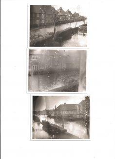 Three photos taken in Raphael Avenue after the Tilbury floods 31st Jan 1953