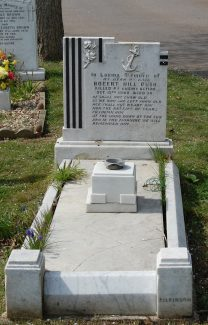 The grave of Robert Hill Bush (click to enlarge) | John Matthews