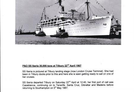 P & O SS Iberia