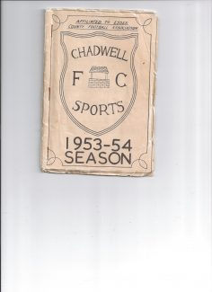 Front cover of hand book for Chadwell Sports FC