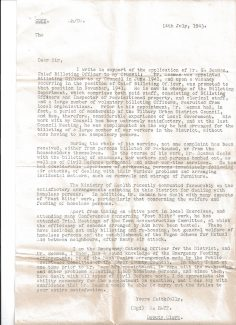 Reference letters for George Seaman