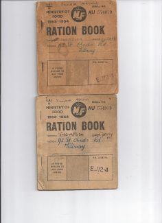 Ration books 1954-55