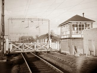 Signal Box,Gates and Waiting Room - 1960s.