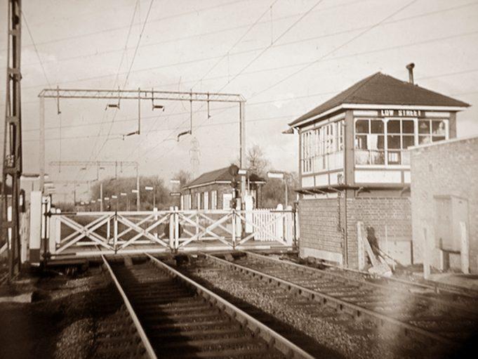 Signal Box,Gates and Waiting Room - 1960s.