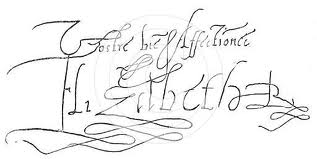 Signature of Queen Elizabeth I | from John Smith